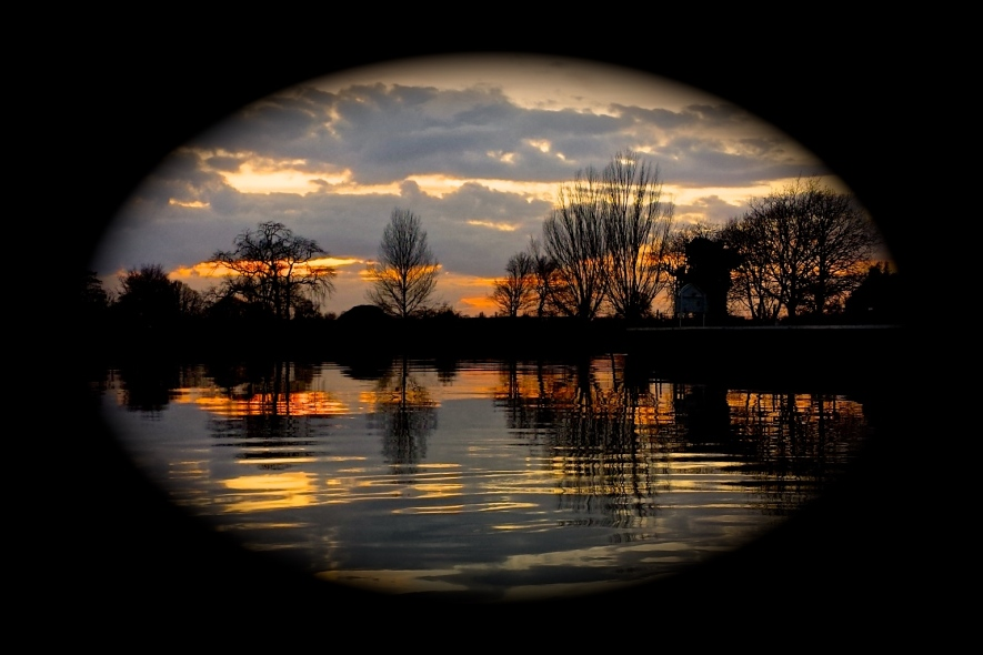 """""""Just another Thames twilight"""" (masked) by Tony Lobl"""