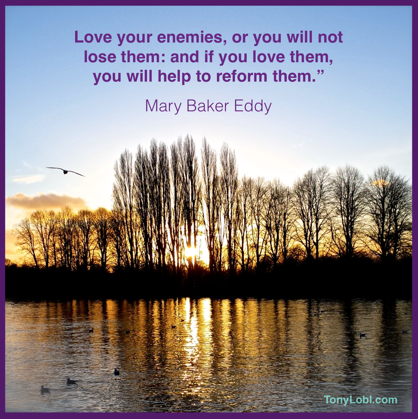 loving your enemies 508 quotes have been tagged as enemies: oscar wilde: 'always forgive your enemies nothing annoys them so much', abraham lincoln: 'do i not destroy my e.