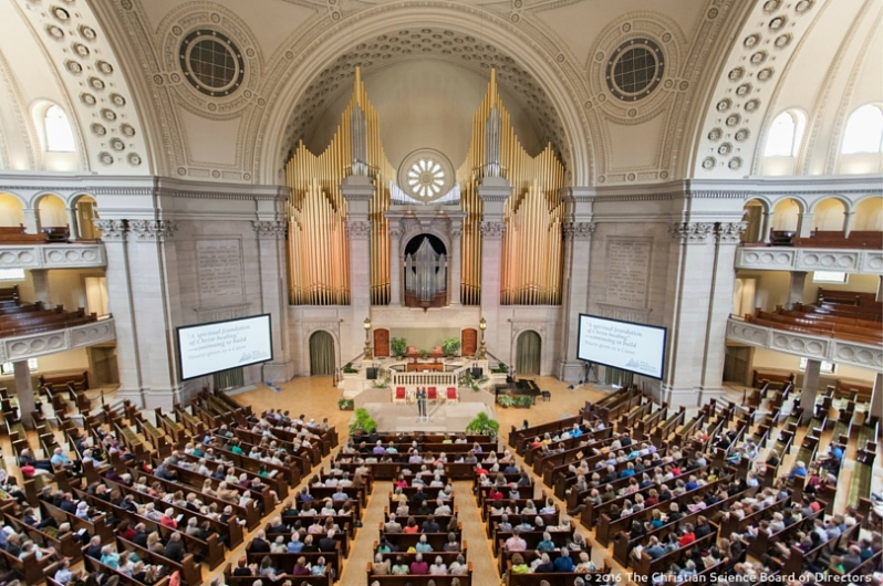 """The Mother Church, Boston - interior @Annual Meeting"