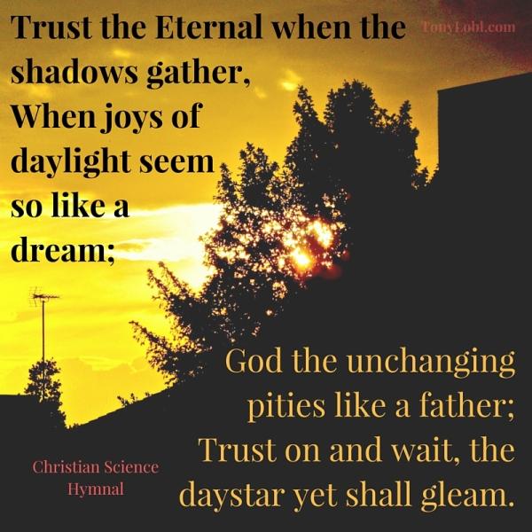 """""""Trust the eternal"""" by Tony Lobl - web"""