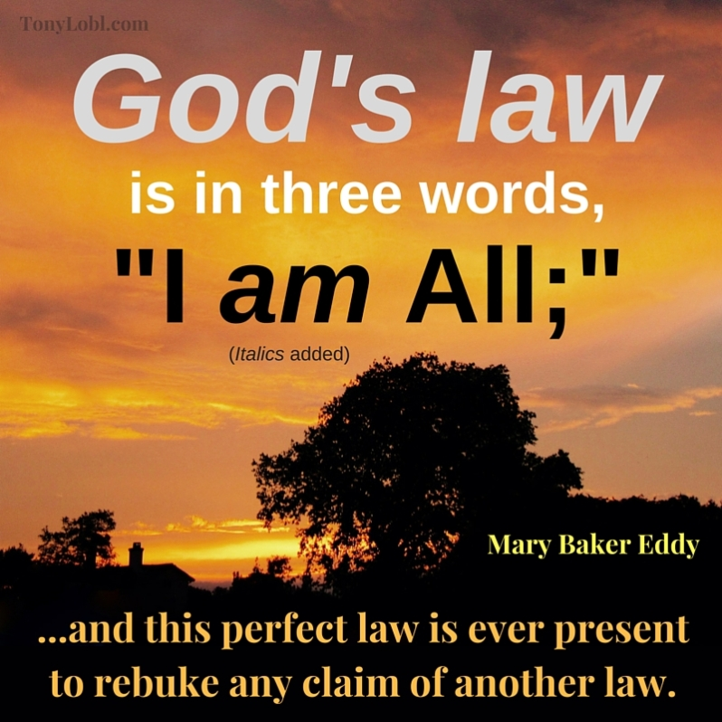 """God's law in three words"" by Tony Lobl"