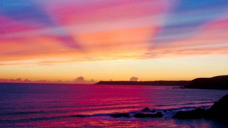 """Purple twilight coast"" by Tony Lobl"